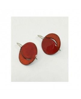 Laia Dangla Silver and Enamel Handmade Earrings I01