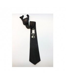 Leonardis Handmade Black Leather And Recycled Tie 3