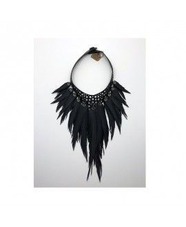 Bayu Recycled Rubber Feather Necklace