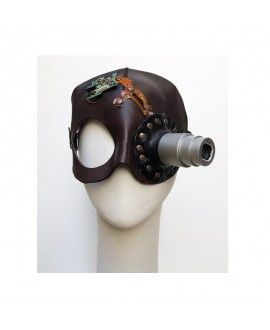 Handmade Original Leather Carnival Mask Recycling With Camera 2