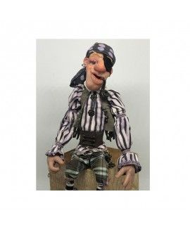 Kaya Handmade polymeric clay Doll Pirate P