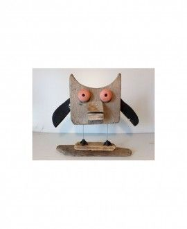 Upcycling Sculpture Owl By Toni Riera