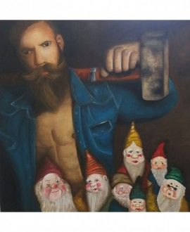 Oil Painting By Romina Rizzo Bearded 4