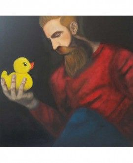Oil Painting By Romina Rizzo Bearded 3