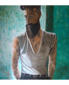 Oil Painting By Romina Rizzo Bearded 2