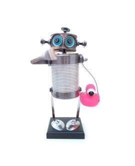 Can Robot Pink Flamingo by Carolata