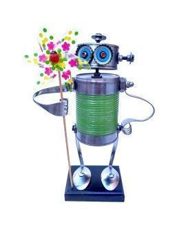 Can Robot with  pinwheel by Carolata
