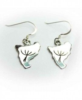 Silver Handmade Earrings Catalonia Silhouette