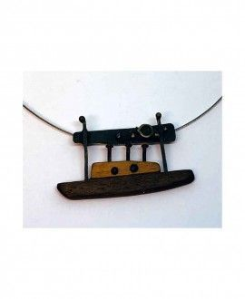 Boat sculpture handmade necklace