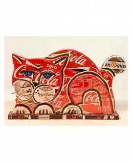 Upcycling Sculpture Cat by Nanin i Mestre