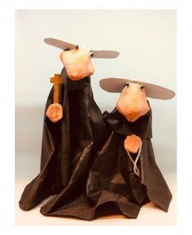 Paper Mache Figures Nuns by Cartrons