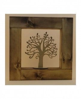 Tree of life wooden framed by Hand-Art