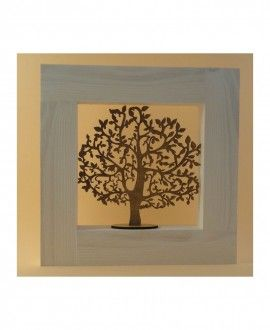 Tree of Plenty Wooden Framed By Hand-Art