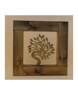 Tree Of Health Wooden Framed By Hand-Art