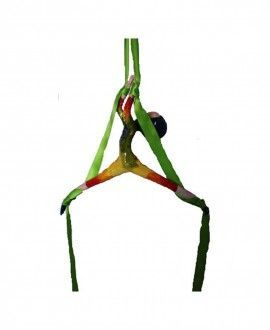 Aereal Green Silk Circus Dancer Decorative Mobile By Voilart