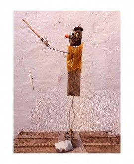 Upcycling Sculpture Fisherman Tolo by Toni Riera