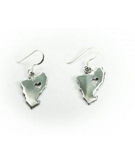 Silver Handmade Earrings Catalonia Heart By Sela Joies