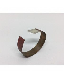 AAmarita I04 Bracelet silver and copper enameled