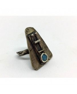 ECurti Ring IA01 Silver and Turquoise