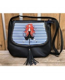 Neus Art Bolso I03 Shoulder Bag Black Illustration Bike