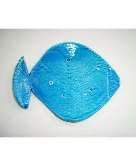 Elenware Handmade Ceramics Blue Fish Soap Holder