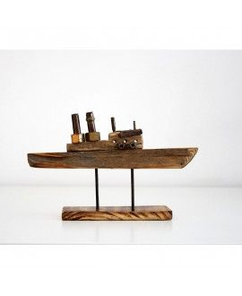 ECurti Boat I03 Sculpture Artistic Recycling